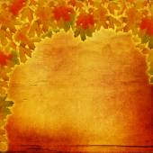 Grunge paper design in scrapbooking style with colorful autumn f — Stock Photo
