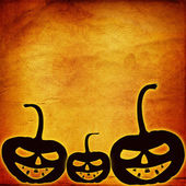 Festive pumpkin Halloween Day on the abstract paper background — Foto Stock