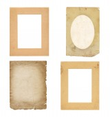 Set of  old photo paper texture isolated on white background — Stock Photo