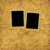 Photo frames on old paper envelopes and letters  — Zdjęcie stockowe