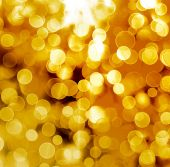 Abstract gold background with blur bokeh for design  — Photo