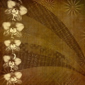 Abstract ancient background in scrapbooking style with ornamenta — Stock Photo