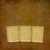 Old vintage paper with grunge frames for photos — Stock Photo