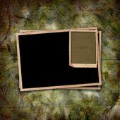 Oude vintage papier met grunge frames voor foto 's — Stockfoto