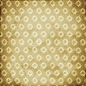 Grunge brown background with ancient ornament. Vintage textile  — Stock Photo