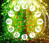 Antique clock face on abstract multicolored background with blur — Stock Photo