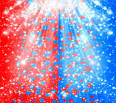 Abstract multicolored background with blur bokeh and hearts for  — ストック写真