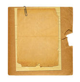 Set of old archival papers and vintage postcard isolated on whit — Stock Photo