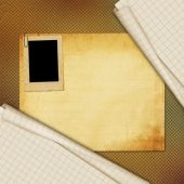 Yaprak okul defter kağıt arka plan üzerinde — Stok fotoğraf