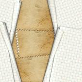 Bladen school notebookpapier op de abstracte achtergrond — Stockfoto