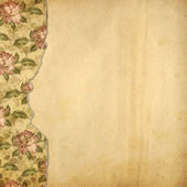 Grunge alienated album for photos with painted roses — Stock Photo