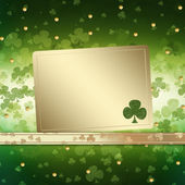 St. Patrick's Day greeting card  on the green background — Stock Photo
