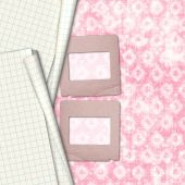 Old paper slides for photos on notebook sheet — Φωτογραφία Αρχείου