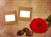Schöner Rosenstrauss mit Rutsche für die Einladung oder Rettungs — Stockfoto