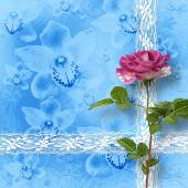 Drawing beautiful bouquets of roses on pastel background — ストック写真