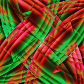 Abstract old chaotic pattern with colorful translucent curved li — Stock Photo