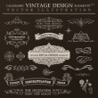 Calligraphic design elements vintage set. Vector ornament frames — Vettoriale Stock