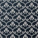 Seamless floral vintage wallpaper background vector black design — Vetorial Stock