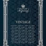 Label vector frame. Vintage antique decor ornament — Stock Vector #52488953