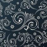 Seamless vector flowers wallpaper. Vintage black background — Stock Vector #52488977