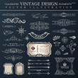 Vector set vintage. Calligraphic design elements and page decora — Stock Vector #52489015