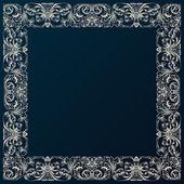 Vintage frontera marco decorado. diseño barroco con adorno retro — Vector de stock
