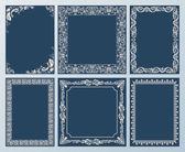 Vector elegant set. Ornate frames and vintage scroll elements — Stock Vector