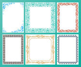 Vector color set. Ornate frames and vintage scroll elements — Stock Vector