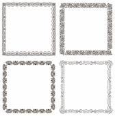 Vector frames set. Ornate and vintage design — Stock Vector