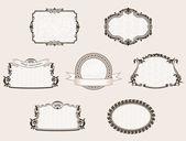 Vector framework set. Ornate and vintage decor elements — Stock Vector