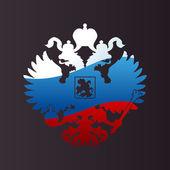 Эмблема двуглавого орла российского герба. Символ empir — Cтоковый вектор