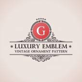 Luxury logo. Calligraphic pattern elegant decor elements. Vintage vector — Stock Vector