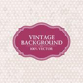 Frame on vintage background. Pink wallpaper with spots Grunge — Stock Vector