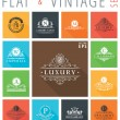 Vector vintage flat elements icons collection Luxury logo — Stock Vector #77810306