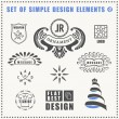 Vector vintage flat elements icons collection Luxury logo — Stock Vector #81079588