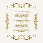 Calligraphic frame and page decoration. Vector vintage — Stock Vector