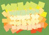 Colored sticky papers — Stock Vector