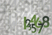 Numbers background — Vettoriale Stock
