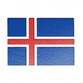 Iceland flag illustration — Stock Photo