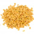 Pile of Fenugreek Seeds Isolated on White Background — Stock Photo #56169699