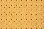 Beige Perforated Artificial Leather Background Texture — Stock Photo