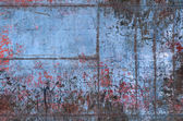Old Grungy Metal Texture with Seams — Foto Stock