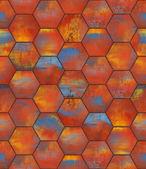 Colorful Hexagonal Tiled Seamless Texture — Stock Photo