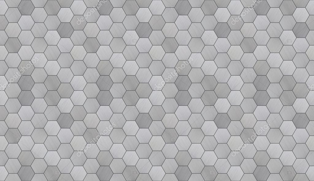 10 In Hexagon Floor Black And White