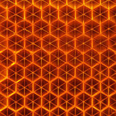 Orange Retroreflector Macro — Stock Photo