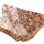 Piece of Polished Granite Isolated on White Background — Stock Photo #74054141