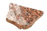 Piece of Polished Granite Isolated on White Background — Stock Photo