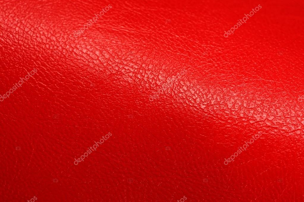 Bright Red Glossy Artificial Leather Background Texture ...
