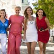 Group of happy smiling women shopping — Stock Photo #52660095