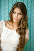 Portrait of pretty young woman  — Stock Photo
